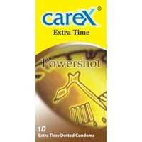 10 Extra Time Dotted Condoms (Carex Powershot)