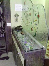 Design Glass Above Shoe Cabinet