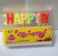 Happy Birthday Letter Shaped Birthday Candles