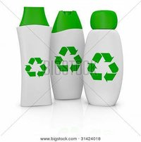 Plastic Shampoo Bottle With Green Cap