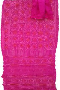 Pure Crepe Silk Bandhani Saree