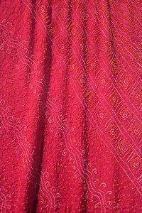Crepe Silk Bandhani Saree In Red