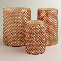 Copper Hobnail Mercury Glass