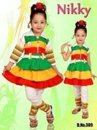 Multi Color Fancy Girls Dress