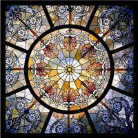 Fancy Printed Stained Glass