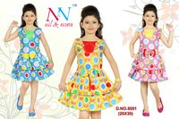 Cotton Printed Kids Frocks