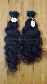 Temple Hair Remy Natural Wavy