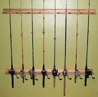 Vertical Fishing Rod Rack