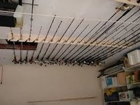 Ceiling Mounted Fishing Rod Holder