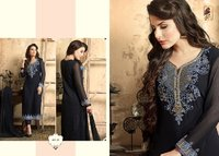 Arzoo Ladies Georgette Embroidery Straight Suit