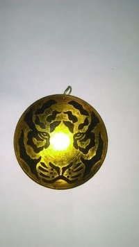Antique Brass Gold Earring
