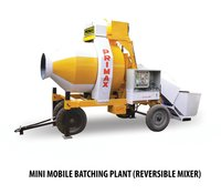 Mini Mobile Batching Plant (Reversible Mixer)