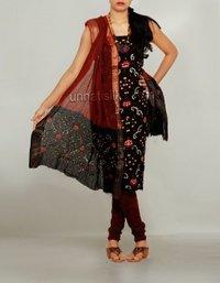 Unnati Unstitched Silk Pure Bandhani Satin Cotton Ladies Salwar Suit