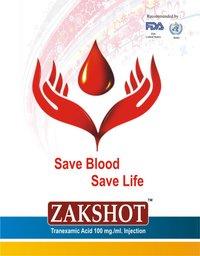 Zakshot Tranexamic Acid 100mg/Ml Injection