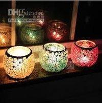 Mosaic Glass Candles