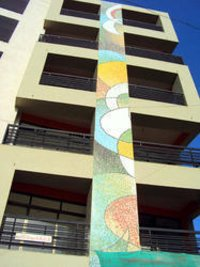 Glass Mosaic Exterior Tiles