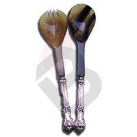 Horn and Aluminium Spoon Set
