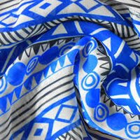100 % Polyster Crepe Printed Fabric