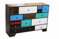 Multicolor Wooden Drawer Chest