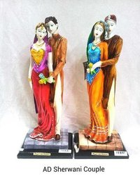 AD Sherwani Couple Statue Idol Showpiece