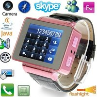 Pink Touch Screen Watch Mobile Phone