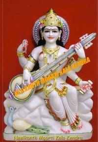 Marble Godess Saraswati Statues