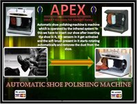 Apex Steel Finished Heavy Duty Automatic Shoe Polishing Machine