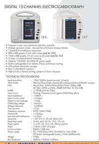 Digital 12 Channel Electrocardiograph (Model 12c And 12-T)