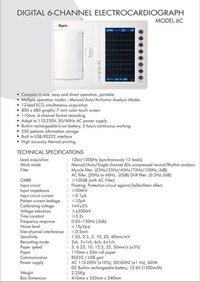 Digital 6 Channel Electrocardiograph (Model-6t)