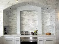 White Grey Glass Mosaic Tiles