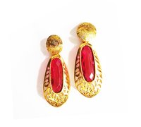 Elegant Ruby Desire Earrings