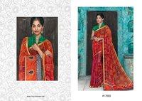 Indian Look Bandhani Printed Sarees