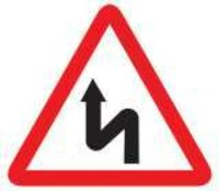 Left Reverse Bend Sign Boards