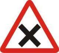 Cross Road Sign Board
