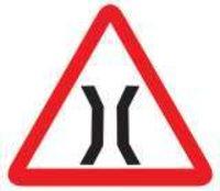 Narrow Bridge Ahead Sign
