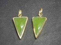 Green Chalcedony Pendant Set