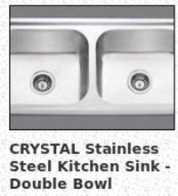 CRYSTAL Stainless Steel Kitchen Sink - Double Bowl