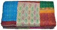 Silk Patola Sari Patch Work Kantha Quilt