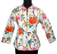 Ladies Winter Floral Print Jackets