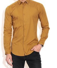 Mens Party Wear Gold Shirts