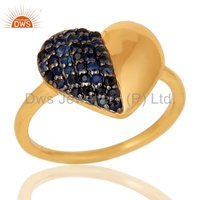 Blue Sapphire Gemstone Silver Ring