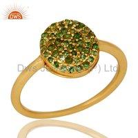 Natural Emerald Gemstone 925 Silver Ring