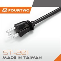 UL Approved 3 Pin Plug Computer Power Cord Cable