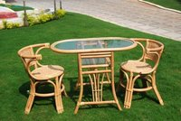 Solo Designer Bamboo Chair With Table Set