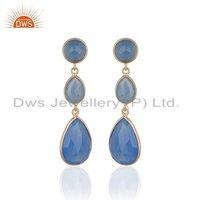 Blue Sapphire Gemstone 925 Silver Earring