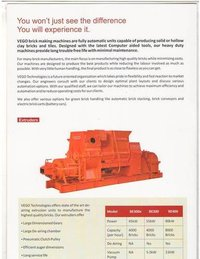 Automatic Red Clay Brick Making Machine