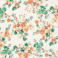 Crepe Flower Printed Fabric