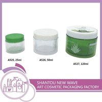 Plastic Cosmetic Sectors Packaging Empty Cream Jar And Container
