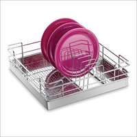 Perforated Thali Plate Stainless Steel Kitchen Basket