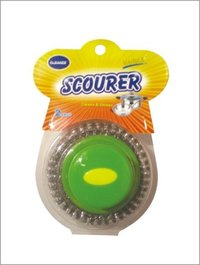 Galvanized Mesh Scourer With Handle 2Pcs Blister Card